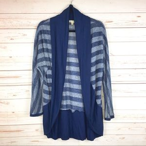 UO Silence + Noise Cocoon Cardigan Knit Stripe M